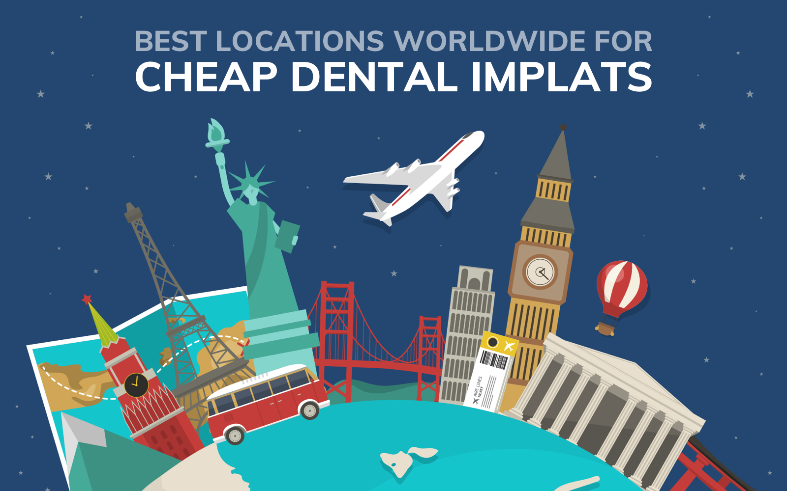 Best locations worldwide for cheap dental implants